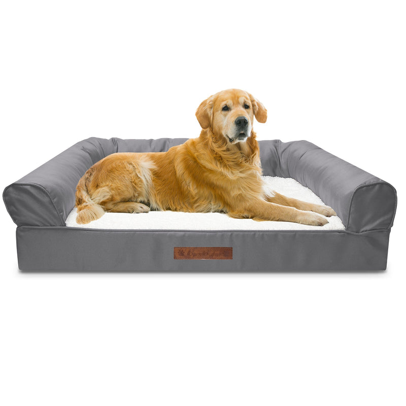 Premium Sofa-Style Orthopedic Pet Bed Pet Supplies Jumbo Gray - DailySale