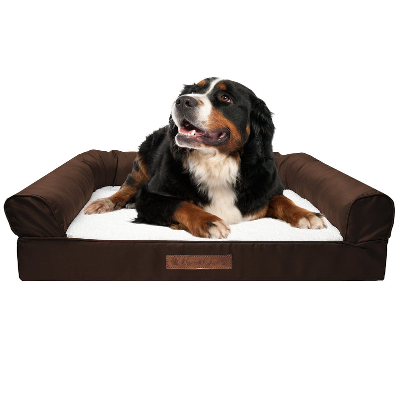 Premium Sofa-Style Orthopedic Pet Bed Pet Supplies Medium Chocolate - DailySale