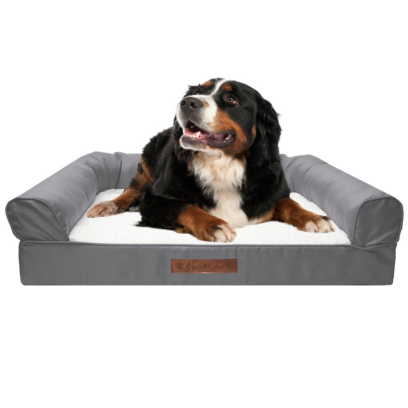 Premium Sofa-Style Orthopedic Pet Bed Pet Supplies Medium Gray - DailySale