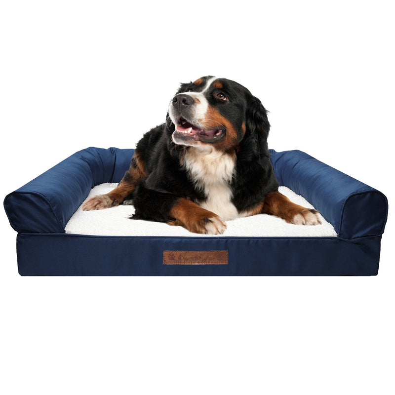 Premium Sofa-Style Orthopedic Pet Bed Pet Supplies Medium Navy - DailySale