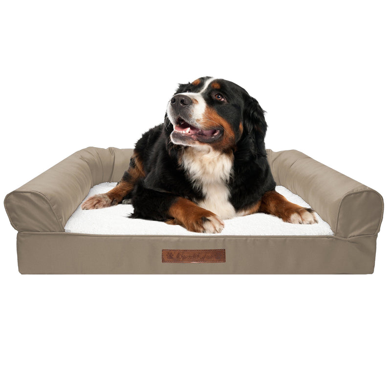 Premium Sofa-Style Orthopedic Pet Bed Pet Supplies Medium Taupe - DailySale