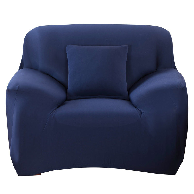 Printed Stretch Sofa Cover Household Appliances Chair Navy Blue - DailySale