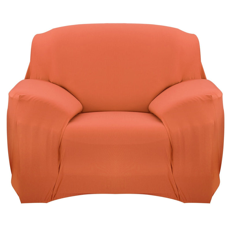 Printed Stretch Sofa Cover Household Appliances Chair Orange - DailySale
