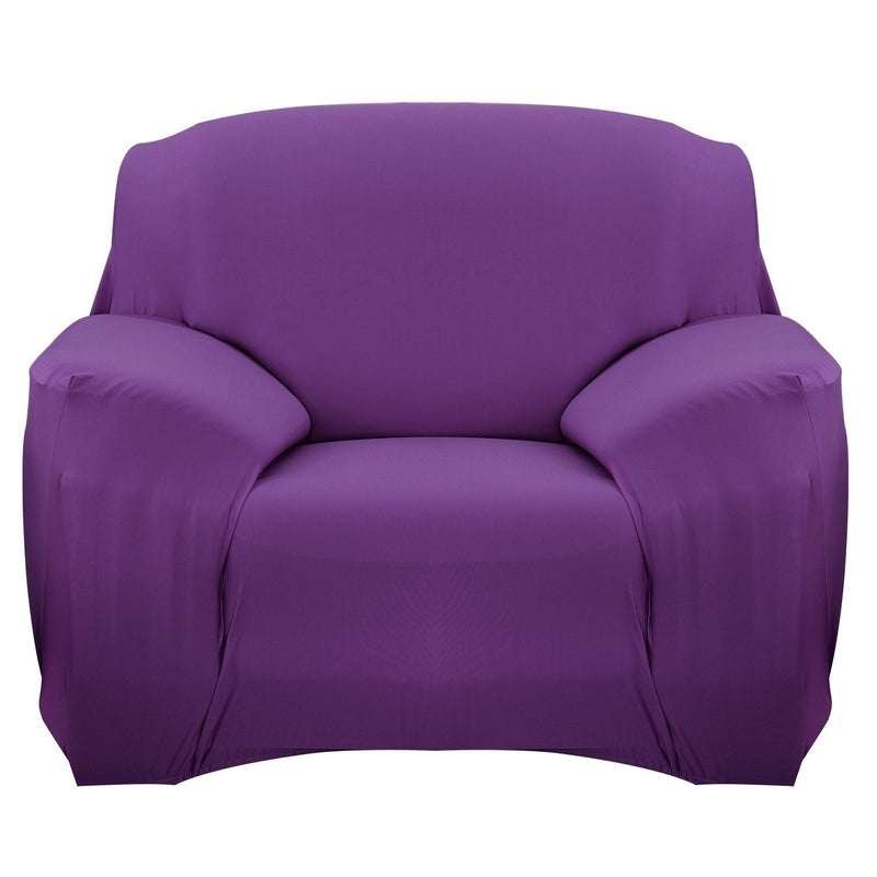 Printed Stretch Sofa Cover Household Appliances Chair Purple - DailySale