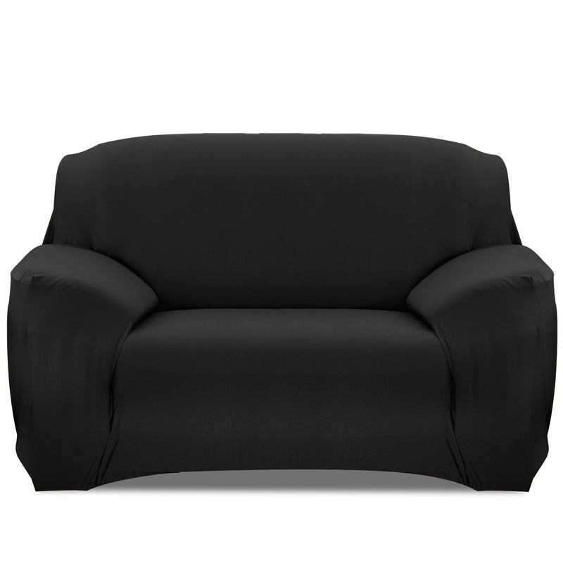 Printed Stretch Sofa Cover Household Appliances Loveseat Black - DailySale