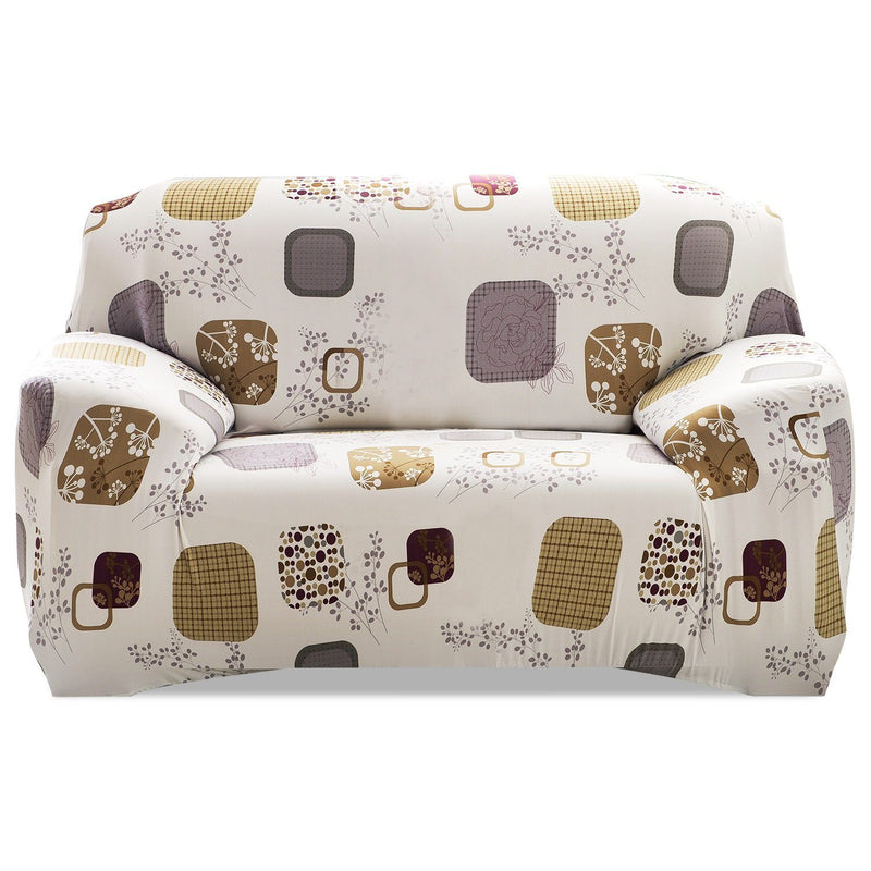 Printed Stretch Sofa Cover Household Appliances Loveseat Blocks - DailySale