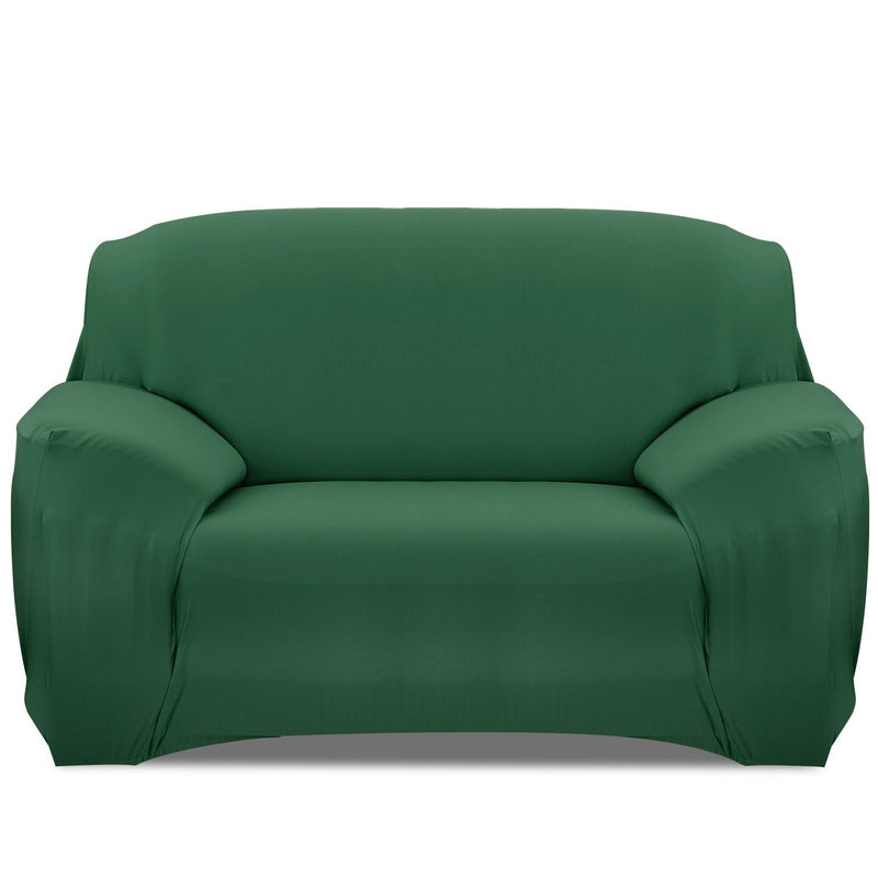 Printed Stretch Sofa Cover Household Appliances Loveseat Dark Green - DailySale