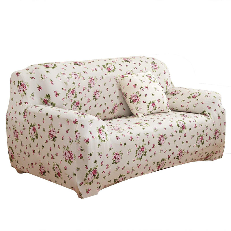 Printed Stretch Sofa Cover Household Appliances Loveseat Euro Pink - DailySale