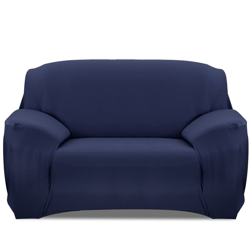 Printed Stretch Sofa Cover Household Appliances Loveseat Navy Blue - DailySale