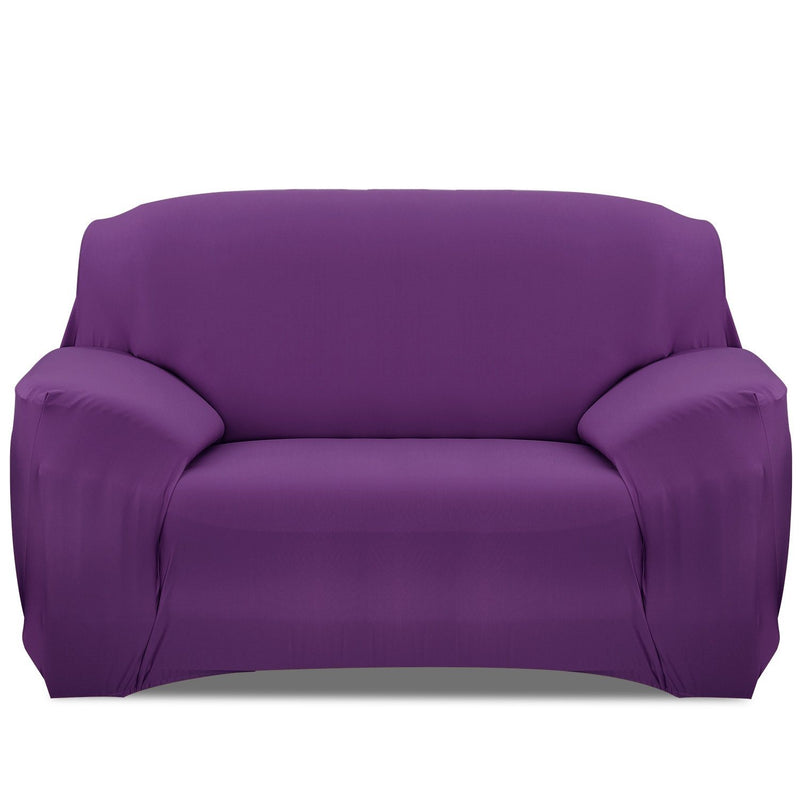 Printed Stretch Sofa Cover Household Appliances Loveseat Purple - DailySale