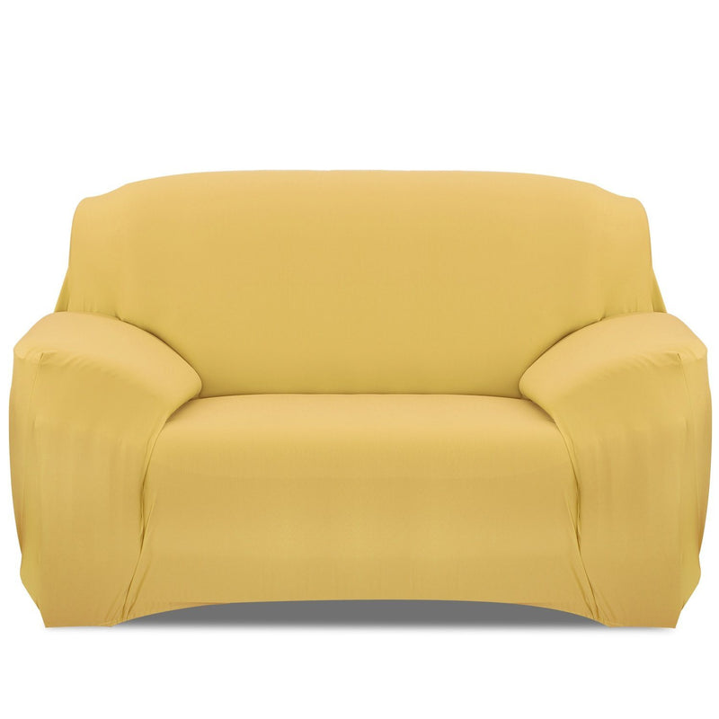 Printed Stretch Sofa Cover Household Appliances Loveseat Yellow - DailySale
