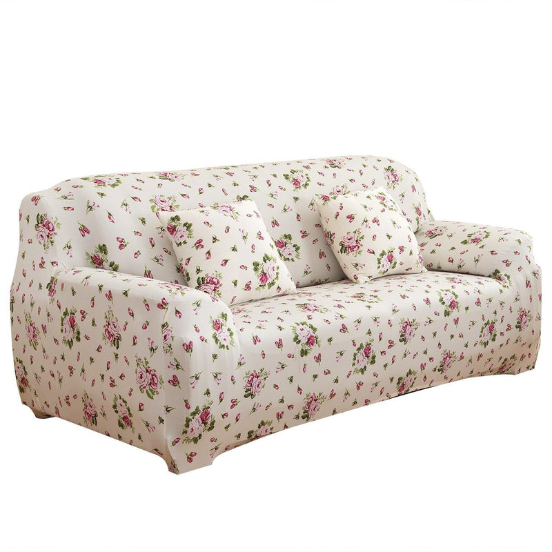 Printed Stretch Sofa Cover Household Appliances Sofa Euro Pink - DailySale