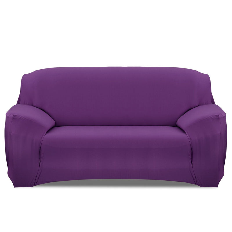 Printed Stretch Sofa Cover Household Appliances Sofa Purple - DailySale