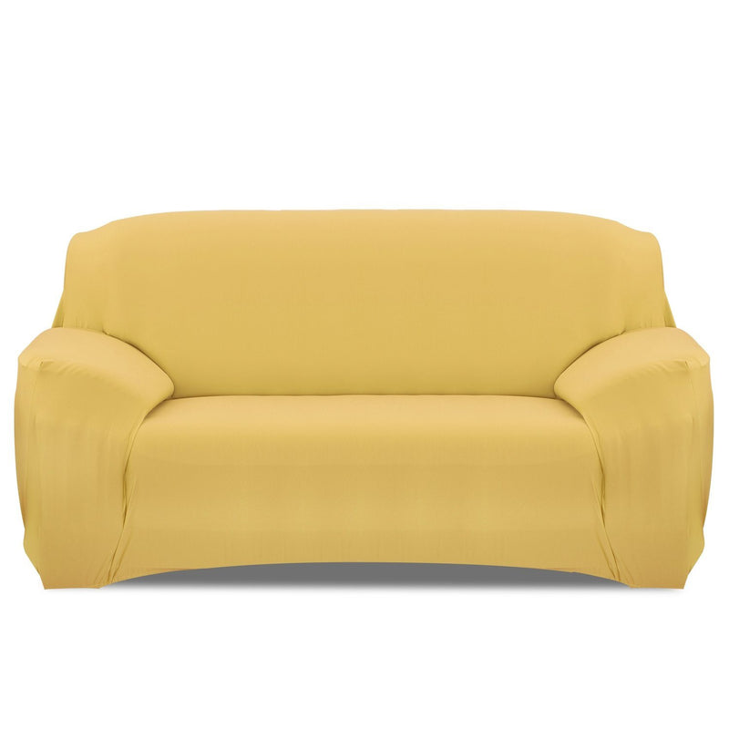 Printed Stretch Sofa Cover Household Appliances Sofa Yellow - DailySale