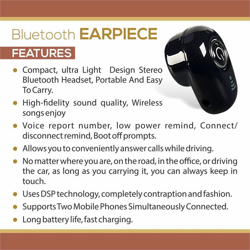 Professional Mini Invisible Wireless Bluetooth 10.0 Stereo In-Ear Earbud Phones & Accessories - DailySale