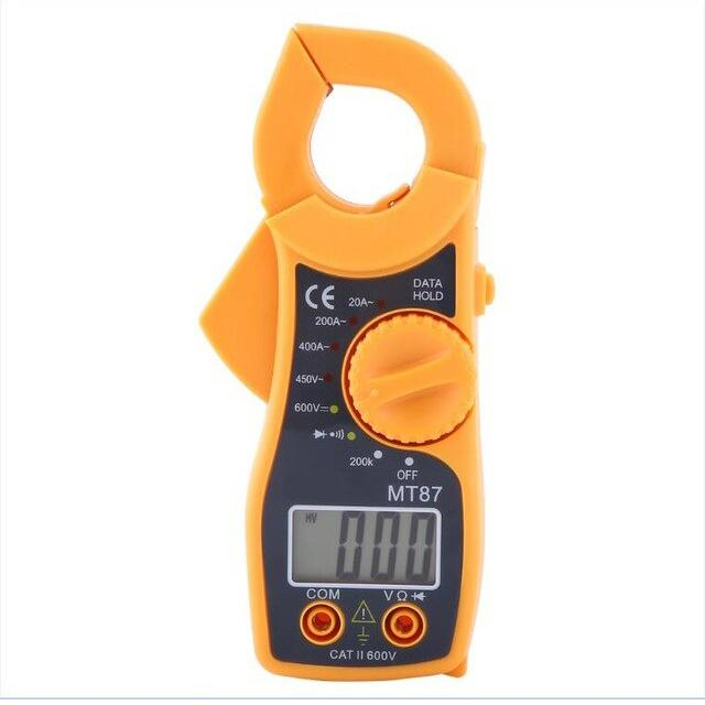 Professional Tool Portable LCD Digital Clamp Multimeter Gadgets & Accessories Yellow - DailySale