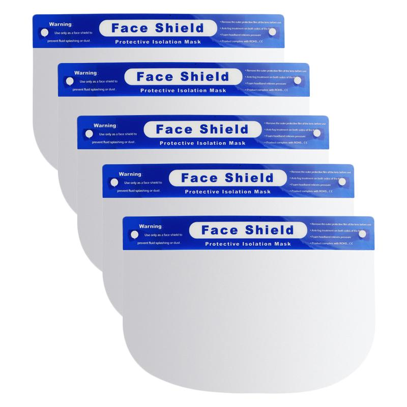 Protective Isolation Mask Anti-fog Disposable Face Shield Masks Wellness & Fitness 5-Pack - DailySale