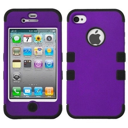 Double Layer Shockproof Hybrid Case for iPhone 4 & 4s - DailySale, Inc