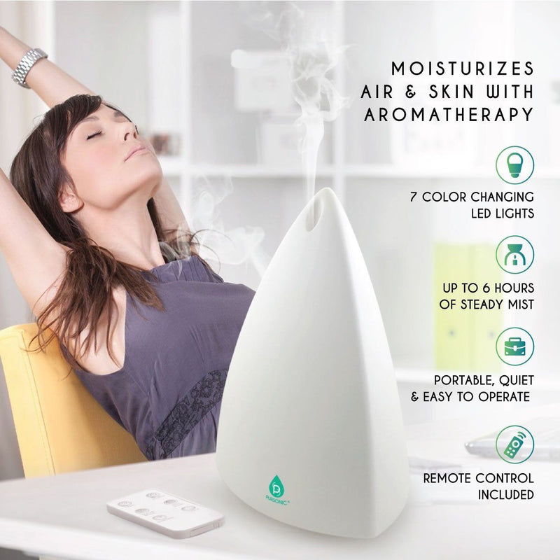 Pursonic Aroma Diffuser with Remote and 6-Pack Aromatherapy Oils Wellness & Fitness - DailySale