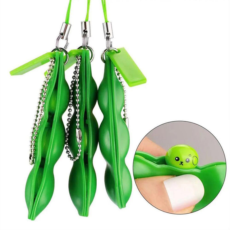 Push Pea Squeezing Keychain Wellness - DailySale