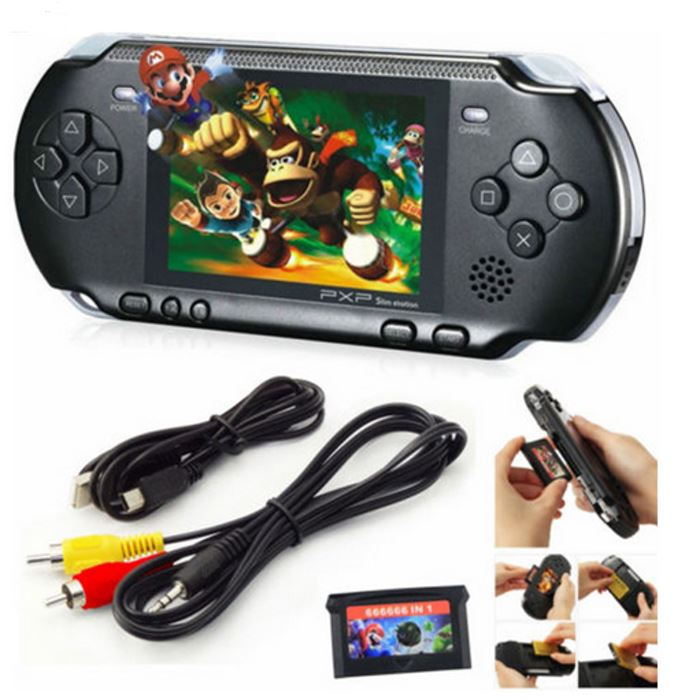 PXP3 Portable Handheld Video Game System with 150+ Games Toys & Games Black - DailySale