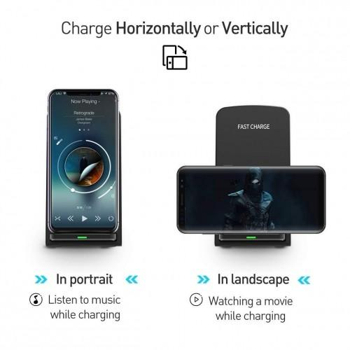 Qi-enabled Wireless Charging Stand Mobile Accessories - DailySale