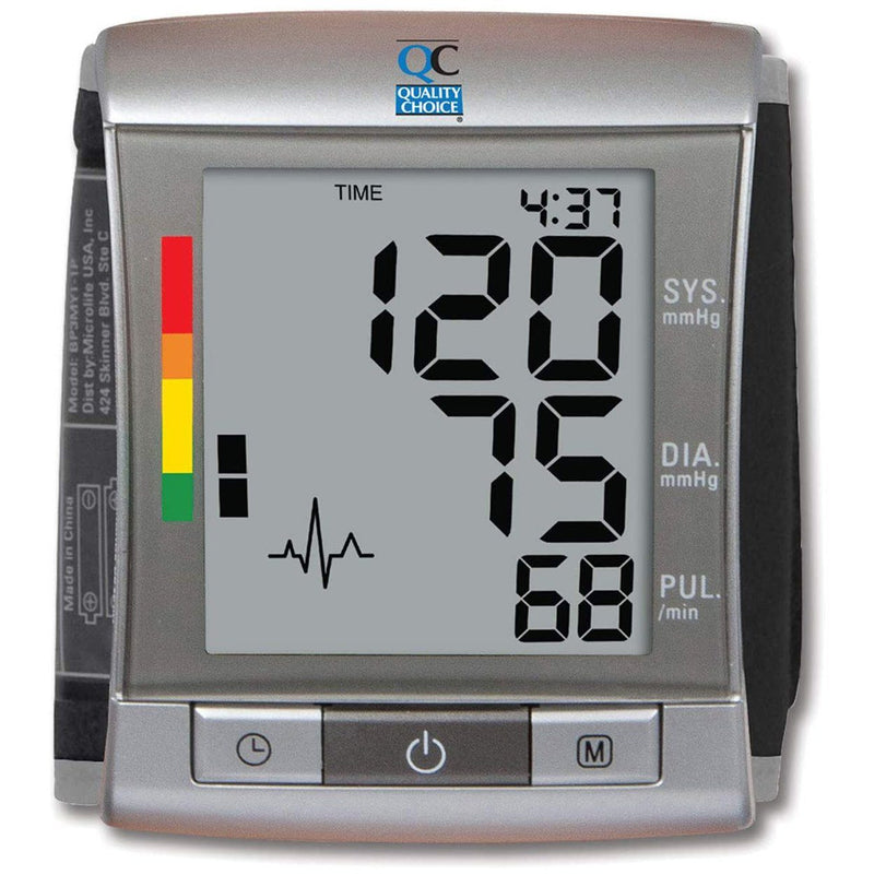 Quality Choice Deluxe Automatic Wrist Cuff Blood Pressure Monitor Wellness - DailySale
