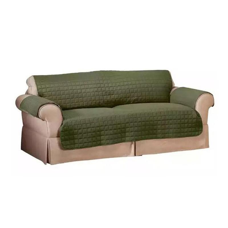 Quilted Pet Protector Furniture Slip Covers Home Essentials Love Seat Sage - DailySale
