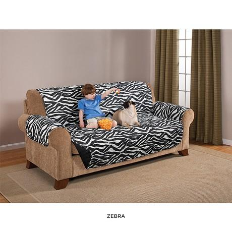 Quilted Water-Absorbent Reversible Furniture Protector - Assorted Styles Home Essentials Sofa Zebra - DailySale
