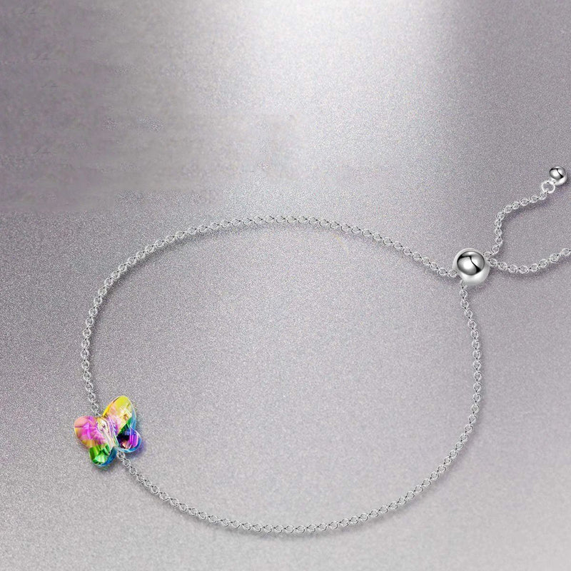 Rainbow Stone Butterfly Bracelet Jewelry - DailySale