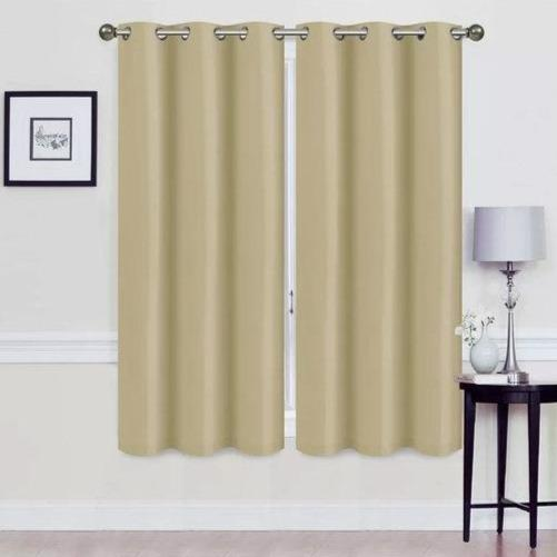 Ravenna Solid Blackout Thermal Grommet Panel Window Shades Furniture & Decor - DailySale