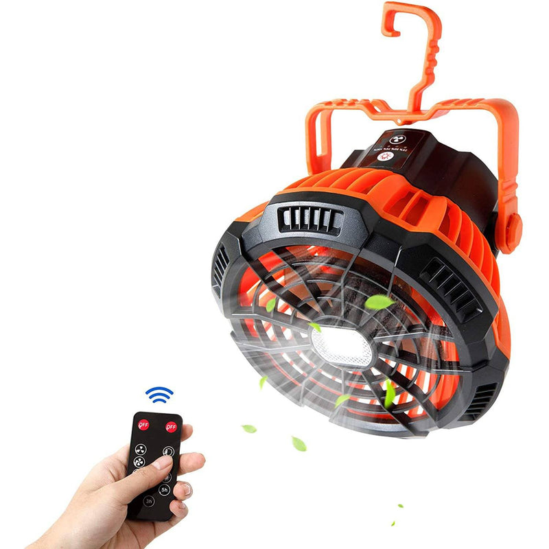 Rechargeable Camping Fan with LED Lantern with IR Remote Sports & Outdoors - DailySale