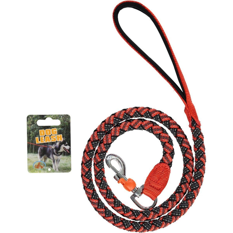 Reflective Stretchable Braided Leash for Pets Pet Supplies XS Red - DailySale