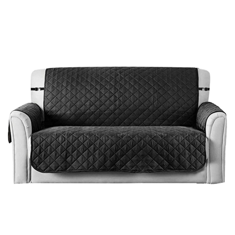 Reversible Sofa Cover Chair Loveseat Home Essentials Small Black - DailySale