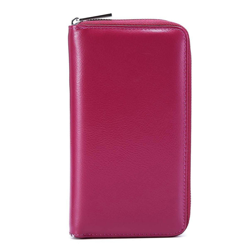 RFID 36 Card Slots Holder Long Clutch Wallet - Assorted Colors Handbags & Wallets Dark Purple - DailySale