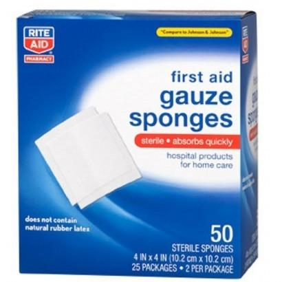 Rite Aid First Aid Gauze Sponges Wellness & Fitness - DailySale
