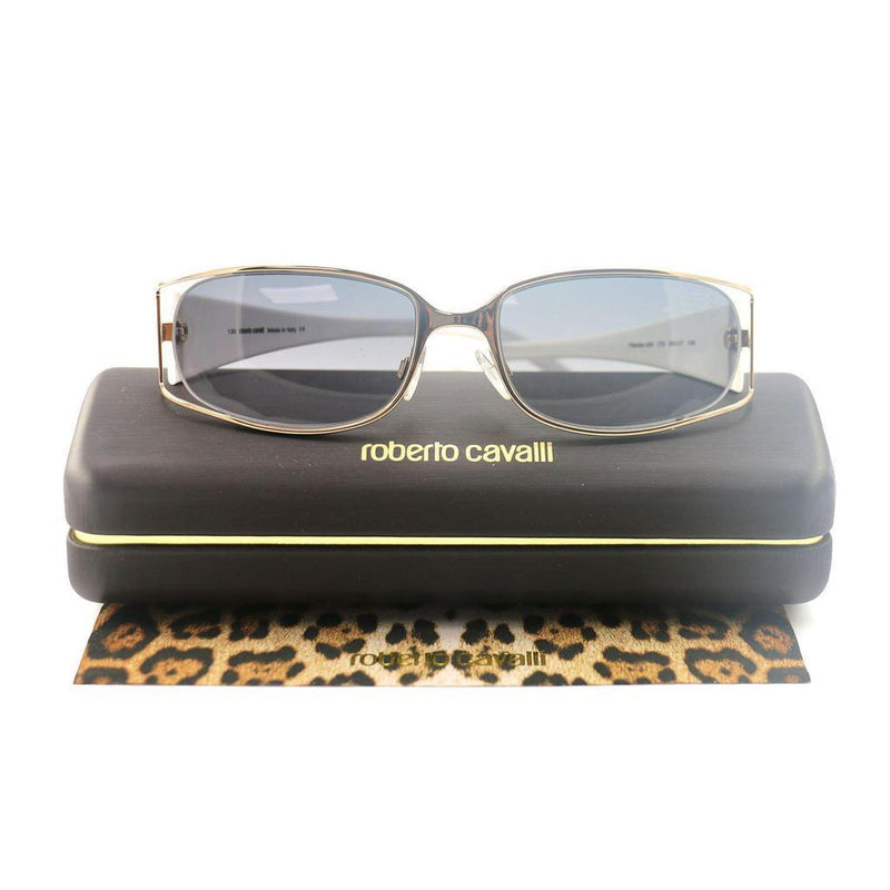 Roberto Cavalli Women's Sunglasses RC0424 772 Gold/White 53 17 130 Full-Rim Oval Women's Accessories - DailySale