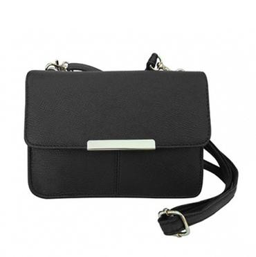 Roma Leather Crossbody Purse with Adjustable Strap Bags & Travel Black - DailySale