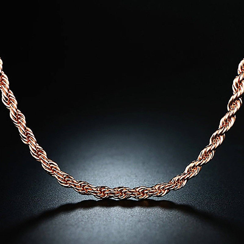 Rose Gold Chain Necklace Jewelry - DailySale