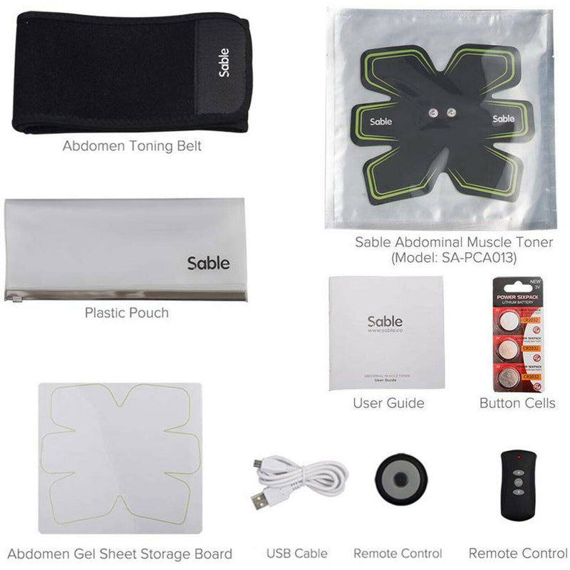 Sable Abdominal Muscle Toning Belt with Remote Control Fitness - DailySale