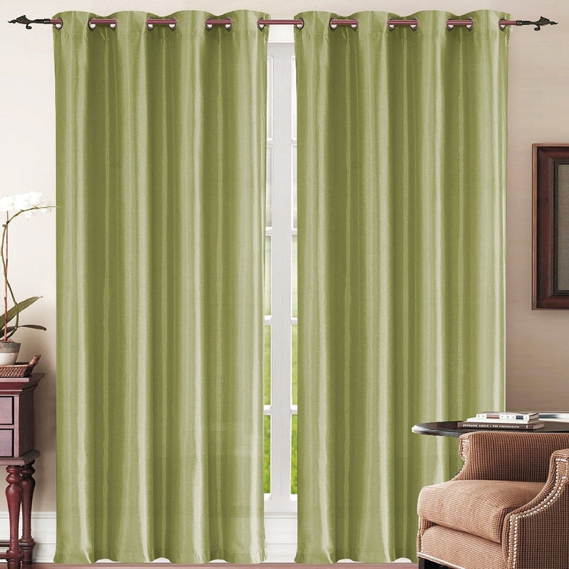 Set of 2: Grommet Curtain Panels - Assorted Colors - DailySale, Inc