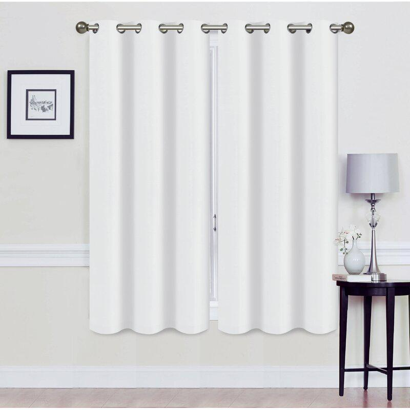 Set of 2: Foam-Backed Blackout Grommet Curtain Panel Lighting & Decor 76 X 63 White - DailySale