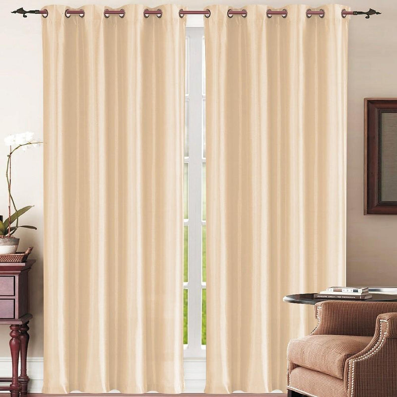 Set of 2: Grommet Curtain Panels - Assorted Colors Furniture & Decor Beige - DailySale