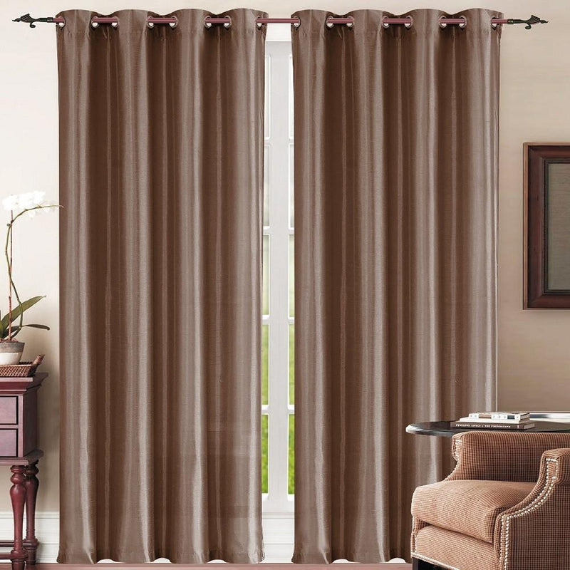 Set of 2: Grommet Curtain Panels - Assorted Colors Furniture & Decor Chocolate - DailySale