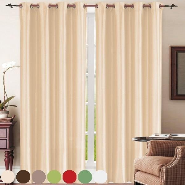Set of 2: Grommet Curtain Panels - Assorted Colors Furniture & Decor - DailySale