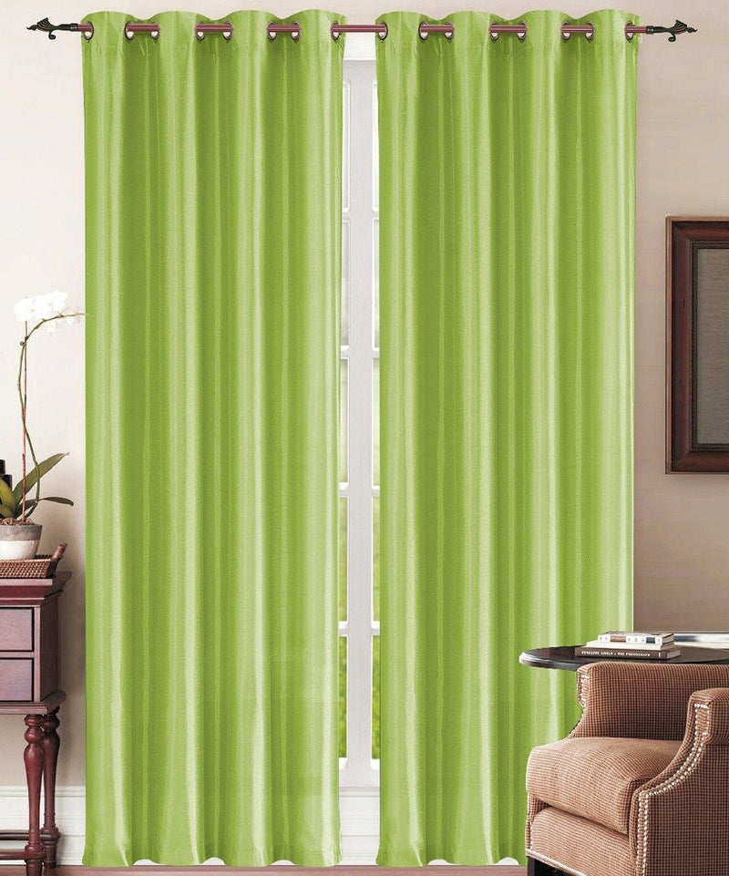 Set of 2: Grommet Curtain Panels - Assorted Colors Furniture & Decor Lime - DailySale