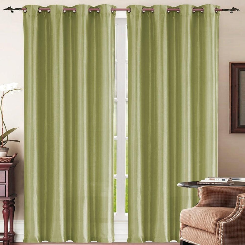 Set of 3: Grommet Curtain Panels - Sage Furniture & Decor - DailySale