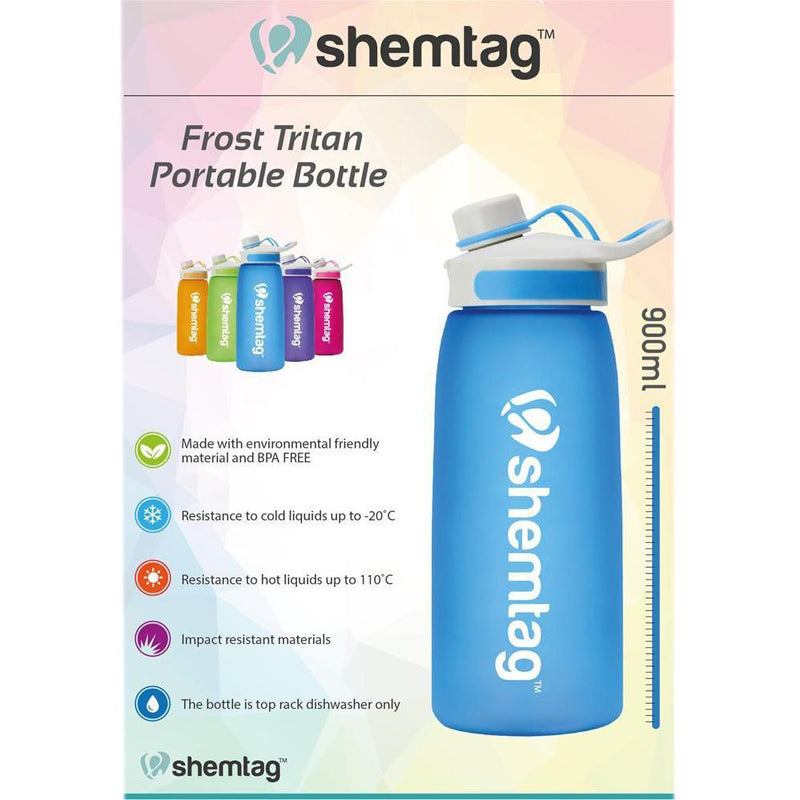 Shemtag Tritan Water Bottle 30oz (900ml) with Screw Cap Sports & Outdoors - DailySale