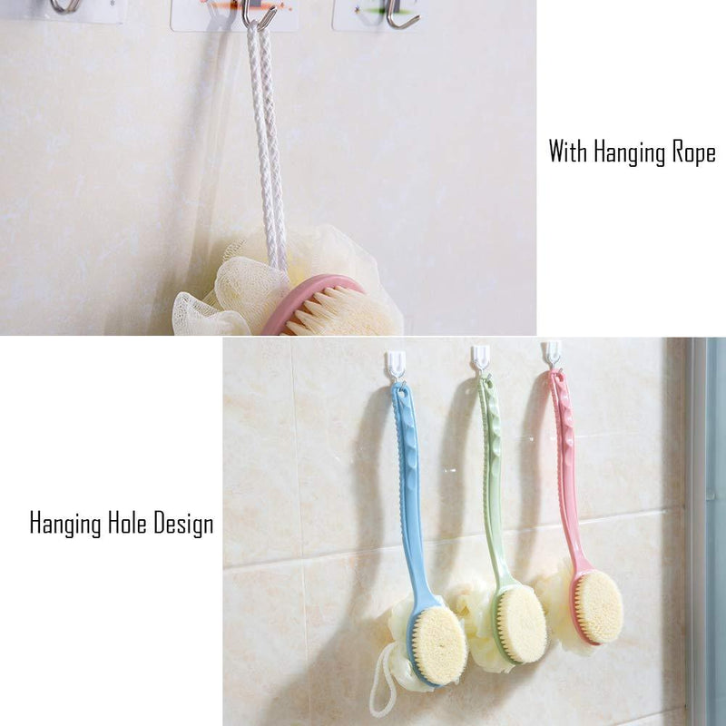 Shower Body Brush with Bristles and Loofah Bath - DailySale