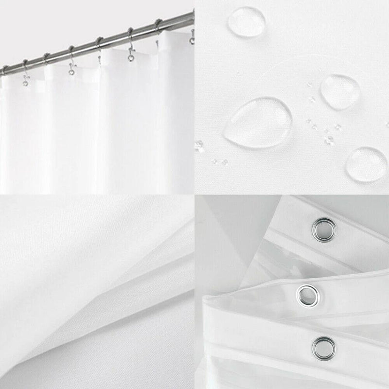 Shower Curtains Mould Proof Resistant Washable Curtain Liner Bath - DailySale